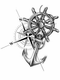 Anchor Compass And Wheel By Chanlung168 Anchorcompasstattoo