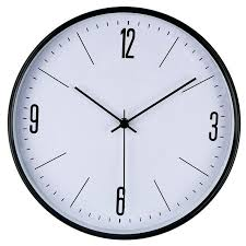 large office wall clocks. Wall Clocks For Office Circle Large Brief Black Metal Frame Home Family Simple Clock .