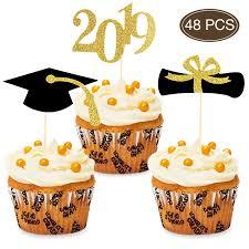 2019 Congrats Graduation Cupcake Toppers Foodappetizer Picks For
