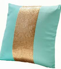 teal and gold pillows. Beautiful Pillows Labor Day Sale Teal Pillows Gold Color Block By AmoreBeaute On And Gold O