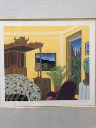 thomas mcknight washington square bedroom hand signed and numbered serigraph