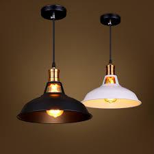 cheap vintage lighting. Retro E27 Home Indoor Lighting Vintage Iron Lid Pendant Light Black/White Lampshade Abajur Cheap E