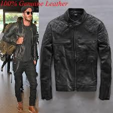 2019 100 genuine leather jacket men harley mens leather jackets and coats 2016 beckham motorcycle vintage black coat from wish168 233 51 dhgate com