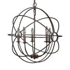 shooting star 5 light rustic black mini chandelier