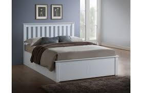 ... Double White Ottoman Lift Wooden Bed Frame. Birlea ...