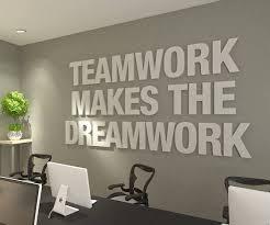 3D Office Design Custom Teamwork Makes The Dreamwork 48D Office Wall Art Typography Etsy