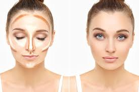 contouring your face with makeup