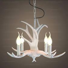 white antler chandelier faux canada lamp small