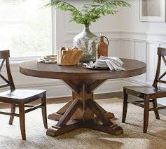 benchwright pedestal dining table