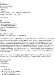 Cover Letter For Art Teaching Jobs Cover Letter Art Teacher