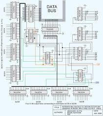 interfacing the isa bus lg 124 the complete circuit diagram