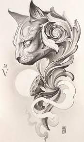Cat Tattoo Design Tatoos татуировки идеи для татуировок и