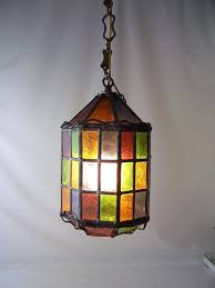 stained glass hanging lamp shades patterns stain pendant outstanding with lamps