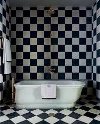 a black and white bathroom could be designed not only in modern but in traditional style