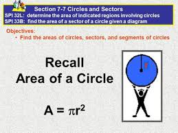 10 7 areas of circles and sectors form g answers areas of circles and sectors ppt download