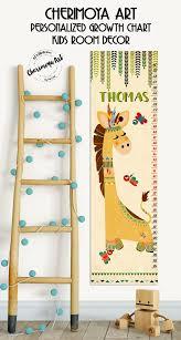 Giraffe Growth Chart Kids Growth Chart Tribal Nursery Wall