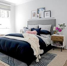 Bedroom Brilliant Blue And Grey Bedroom Dark Blue And Gray With