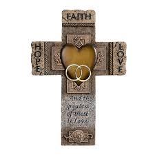 faith hope and love marriage cross 10 5 inch