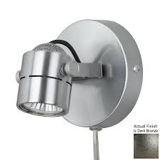 cal lighting 4 75 in w 1 light dark bronze arm plug in wall