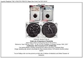 370 GR Aspendos Pamphylia 370BC ATHLETES WRESTLE Slinger coin Ch F NGC at  Amazon's Collectible Coins Store