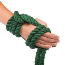 Soft cotton bondage rope