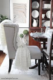 dining room update the look all resources listed including these gorgeous nailhead wingback chairs settingforfour