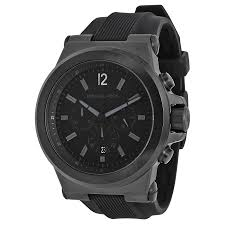 michael kors dylan black silicone strap men s watch