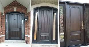 the best way to stain fiberglass doors