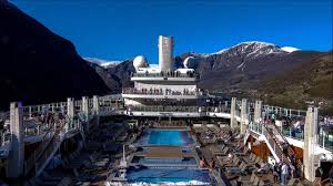 p o cruise ship britannia norwegian fjords timelapse video