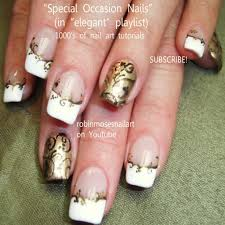 Fresh French Nails with Gold Design