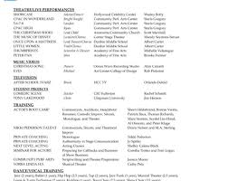 Actors Resume Template Fill In The Blank Acting Resume Template