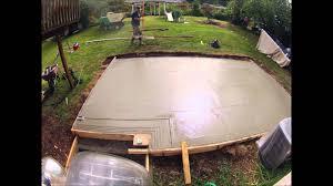 Build A Concrete Patio Concrete Patio 12x20 Youtube