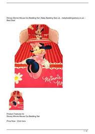 disney minnie mouse cot bedding set