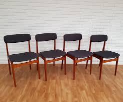 Danish Design Furniture Cheap Set Of 4 Danish Design Dining Chairs With Teak Frame