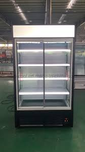 china commercial supermarket glass door display refrigerator open chiller china multi deck chiller glass door showcase