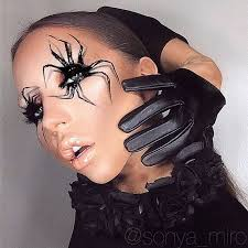 web makeup spider face makeup photo 2 spider eyemakeup step