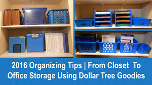 office closet storage. 2016 Organizing Tips | From Closet To Office Storage Using Dollar Tree Goodies - YouTube A
