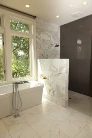 half circle shower bathroom contemporary with open shower oval soaking bathtubs
