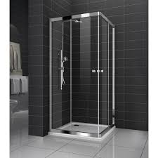 genoa new square sliding doors shower screen with base 8 mm glass
