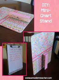 Classroom Diy Diy Mini Chart Stand