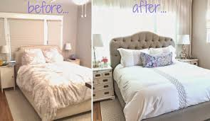 bedroom curtains behind bed. Off Center Windows Behind Bed Disguised By Entire Wall Of Airy White Curtains Bedroom