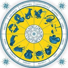 Zodiac Wheel Astrology Natal Chart Royalty Free Vector Graphics