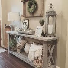 farmhouse chic furniture. Farmhouse Console Table Vignette In A Foyer Chic Furniture R