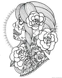 Skull Coloring Pages To Print Sugar Skull Coloring Pages Printable