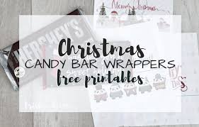 A bit of extra imagery is included on the ends of the wrappers; Free Printable Candy Bar Wrappers Simple Sweet Christmas Gift
