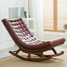 wooden rocking chair. Rocking Chair Leather Wooden