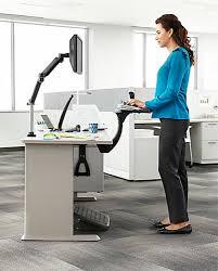 3m akt180le sit stand under desk easy adjust keyboard tray