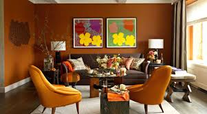 Orange Living Room Decor Inspiring Orange Living Room With Cool Design And Decorating Ideas