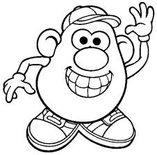 Small Picture Mr Potato Head is so Happy Coloring Pages Bulk Color