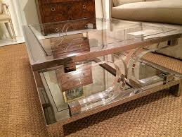decoration square lucite coffee table new karl springer style at 1stdibs inside 8 from square